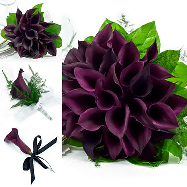 Mini Calla Black Wedding Collection - 17 pcs..