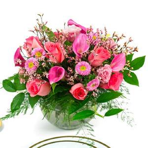 Pink Mini Calla Centerpieces - 6 pc.