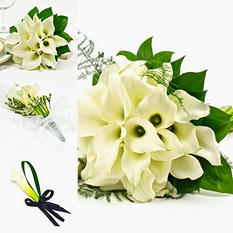 Mini Calla White Wedding Collection - 17 pcs.