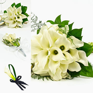 Mini Calla White Wedding Collection - 17 pcs..