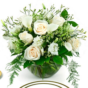 White Mini Calla Centerpieces - 6 pc.