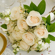 Wedding Collection - White - Bridesmaid Bouquets - 2pc