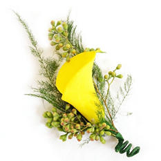 Wedding Collection - Yellow  - Corsages and Boutonnieres - 12pc