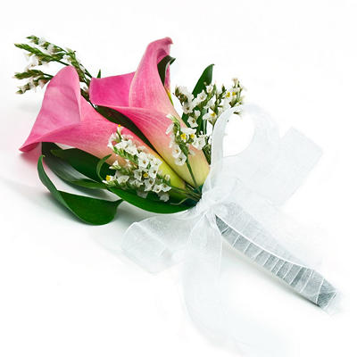 Wedding Collection - Pink Mini Calla - Corsages and Boutonnieres - 12pc