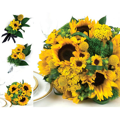 Sunflower  Wedding Collection - Yellow  - 23 pc.