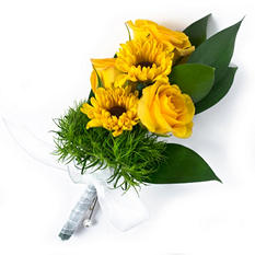 Sunflower Wedding Collection - Yellow - Corsages & Boutonnieres - 12 pc.