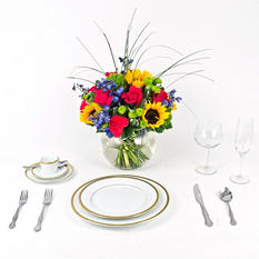 Sunflower Wedding Collection - Bright - Centerpieces - 6pc