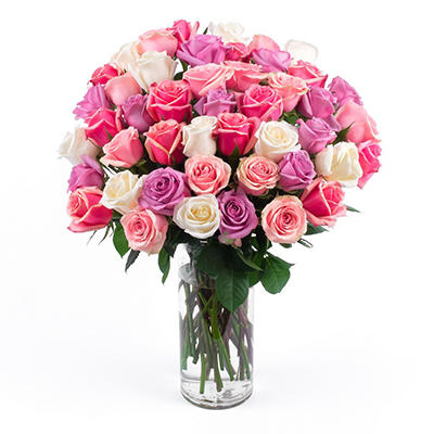 """True Love""  50 Stem Pink Bouquet"