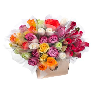 Single Roses, Red and Assorted Colors (150 stems)