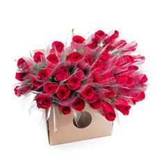 Single Roses, Red (150 stems)