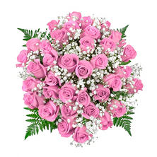 Pink Rose Bouquet, 36 Stems (No Vase)