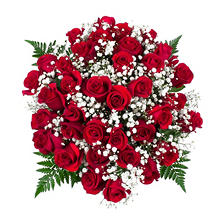Red Rose Bouquet, 36 Stems (No Vase)