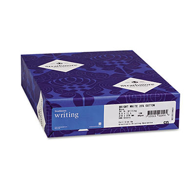 Strathmore - Writing 25% Cotton Fine Paper, 24lb, Bright White - Ream
