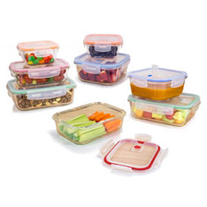 Fire + Ice Glass Food Storage Containers, 16-Piece Set