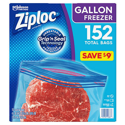 Ziploc Double Zipper Gallon Freezer Bags (152 ct.)
