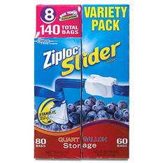 Ziploc Easy Zipper Variety Pack - 140 Bags