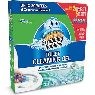 Scrubbing Bubbles Toilet Cleaning Gel - 30 Discs