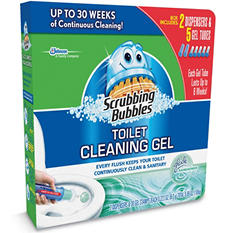 Scrubbing Bubbles Toilet Cleaning Gel - 30 Discs
