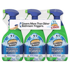 Scrubbing Bubbles Mega Shower Foamer with Ultra Cling (32 oz., 3 pk.)