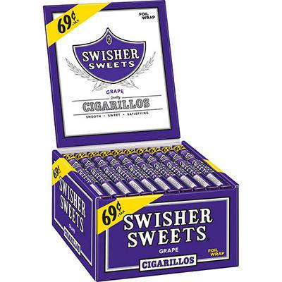 Swisher Sweets Grape Cigarillos Box - 60 ct.