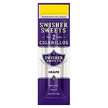 Swisher Sweets Cigarillo, Grape (2 for $0.99 Pouch)