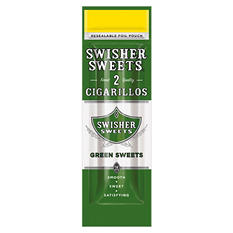 Swisher Sweets Green Sweets Cigarillo - Save on 2 Pouches