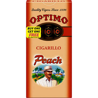 Optimo Peach Cigarillo - 20/5pks