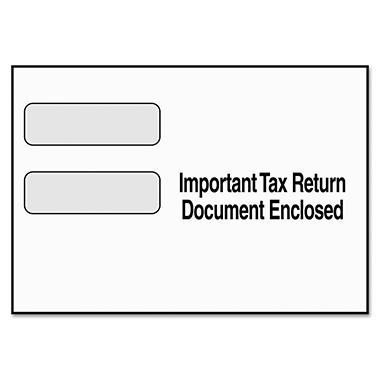 Tops Double Window Tax Form Envelope for 1099 Misc/R Forms, 9 x 5-5/8, 24/Pack
