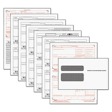 Tops - Tax Forms/W-2 Tax Forms Kit with 24 Forms, 24 Envelopes