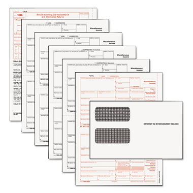 Tops - Tax Forms/1099 Misc Tax Forms Kit with 24 Forms, 24 Envelopes, 1 Form 1096