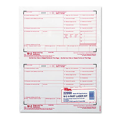 Tops - W-2 Tax Form, Four-Part Carbonless, 50 Forms
