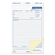 TOPS - Carbonless Three Part Job Work Forms