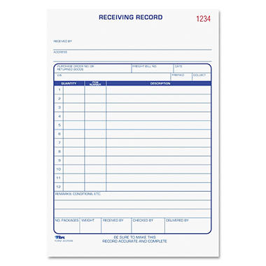 Tops - Receiving Records Forms
