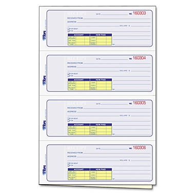 Tops - Manifold Receipt Book