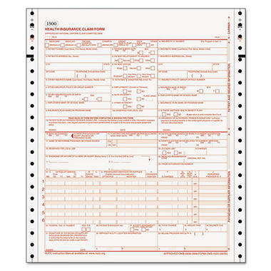 TOPS - HCFA Continuous Claim Forms