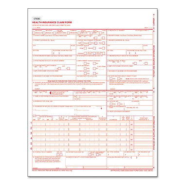 Tops - Centers for Medicare and Medicaid Services Forms, 8 1/2 x 11, 500 Forms