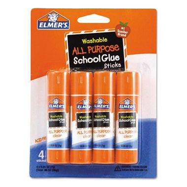 Elmer's Washable All Purpose School Glue Sticks - 4/Pack