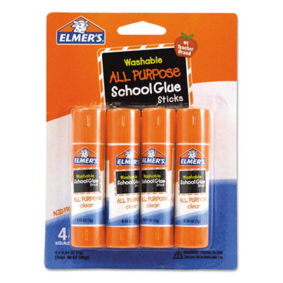 Elmer's Washable All Purpose School Glue Sticks - 4/Pack