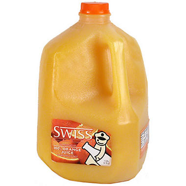 Swiss Dairy 100% Orange Juice Pasteurized from Concentrate - 1 gal.