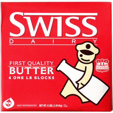 Swiss Dairy Butter - 1lb blocks - 4 ct.