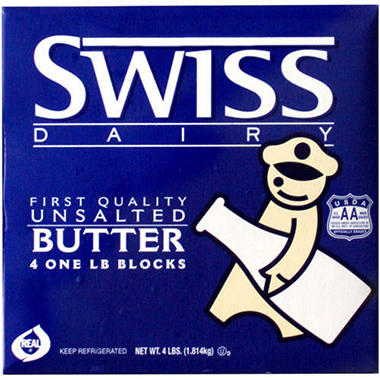 Swiss Dairy Unsalted Butter - 1 lb. blocks - 4 ct.