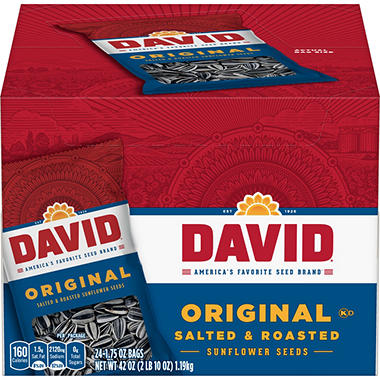 David� Sunflower Seeds - 1.75 oz. - 24 bags