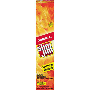 Giant Slim Slim Jim Snacks - 24 ct.