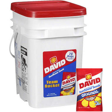 David� Sunflower Seeds Team Bucket - 70/1.75oz