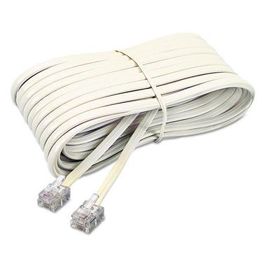 Softalk - Telephone Extension Cord, Plug/Plug, 25 ft. - Ivory