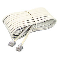 Softalk - Telephone Extension Cord, Plug/Plug, 25 ft. - Ivory