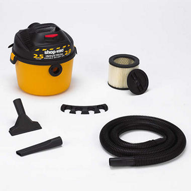 Shop-Vac� Industrial Wet/Dry - 2.0 hp - 2.5 gal.