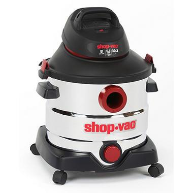 Shop-Vac Stainless Steel Wet/Dry Vacuum - 5.5 Peak HP - 8 Gal