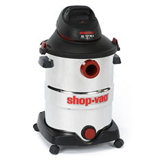 Shop-Vac Stainless Steel Wet/Dry Vacuum - 6.0 Peak HP - 12 Gal.
