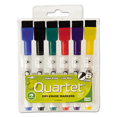 Quartet ReWritables Dry Erase Mini-Markers, Assorted Colors (Fine, 6 ct.)